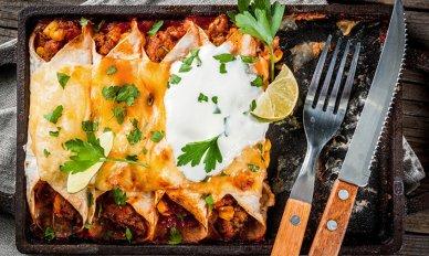Enchiladat uunissa
