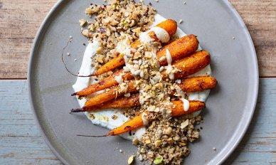 Marinoidut ja paahdetut porkkanat